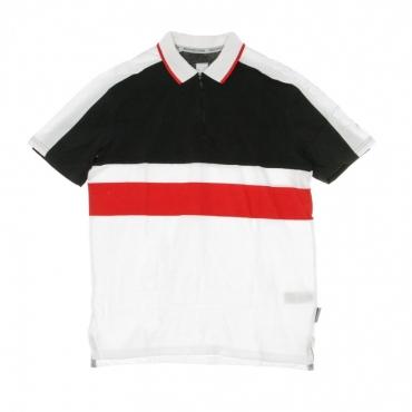 POLO MANICA CORTA WALKLEY POLO BLACK/WHITE/RED