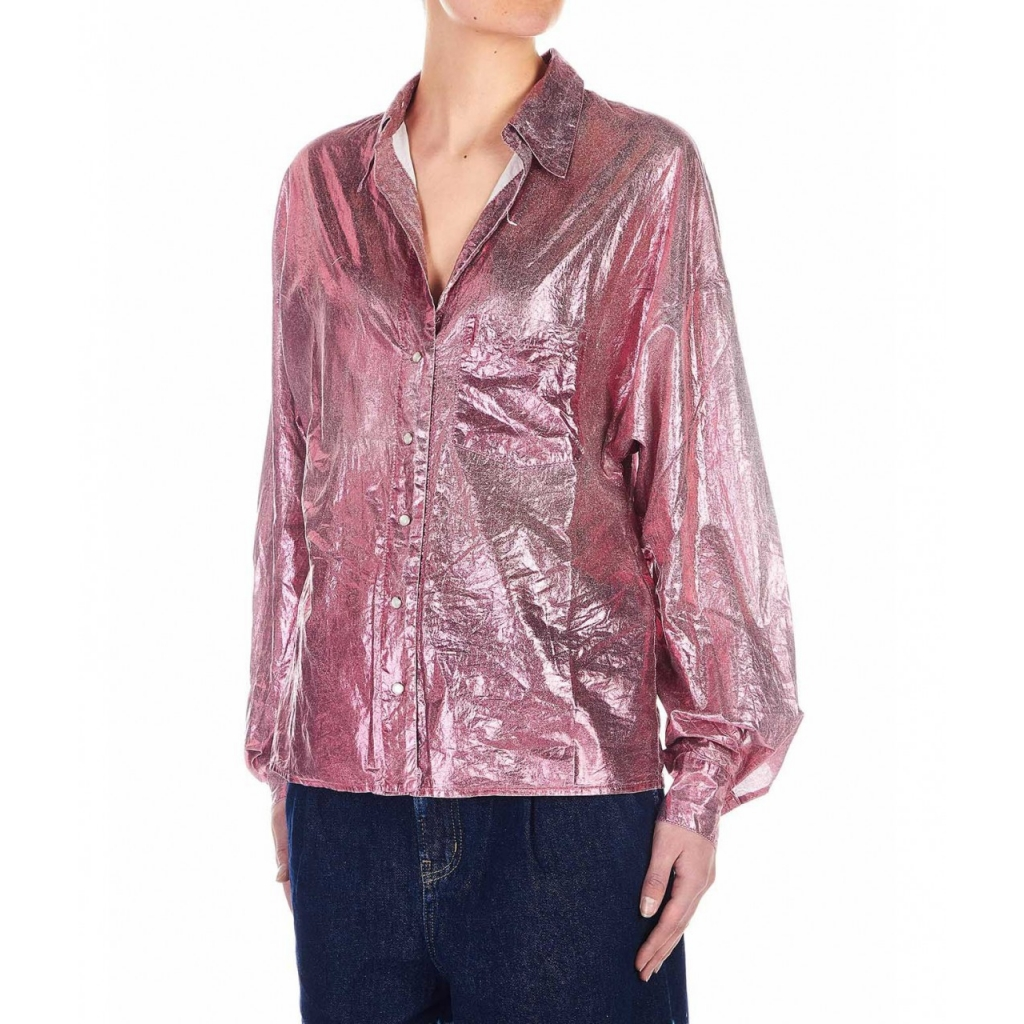 Blusa brillante Ischia pink