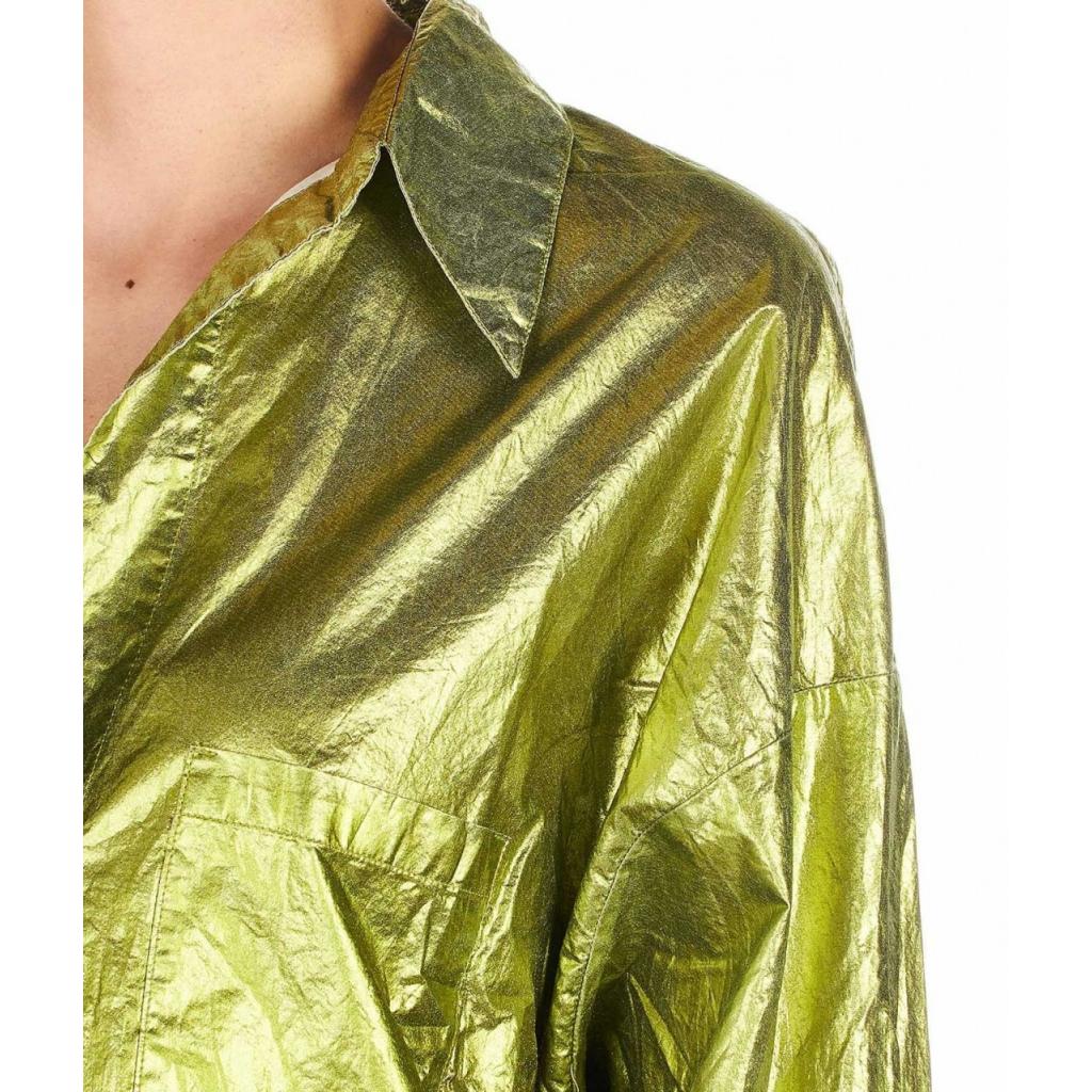 Blusa brillante Ischia verde