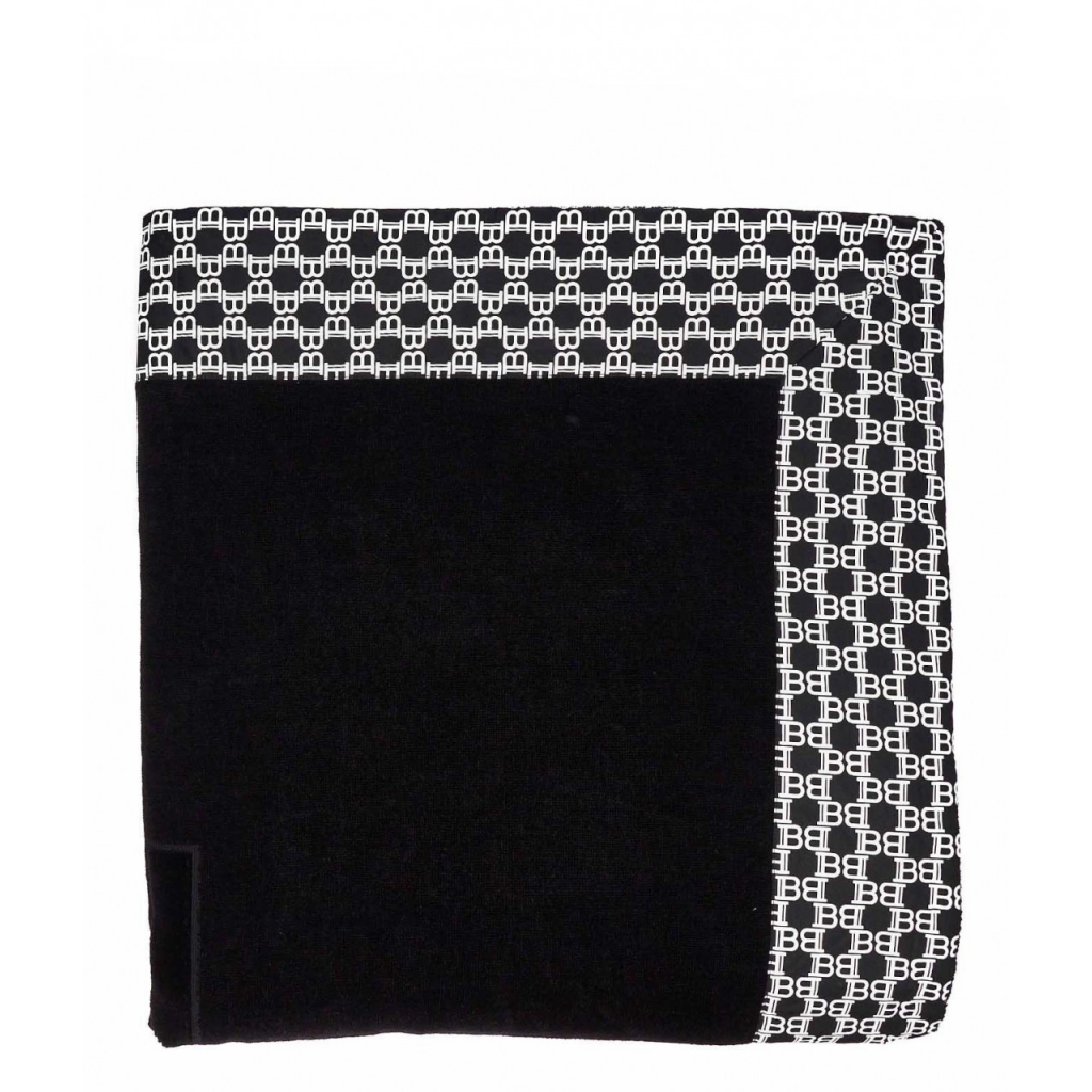 Asciugamano con dettagli logo nero