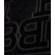 Asciugamano con logo nero