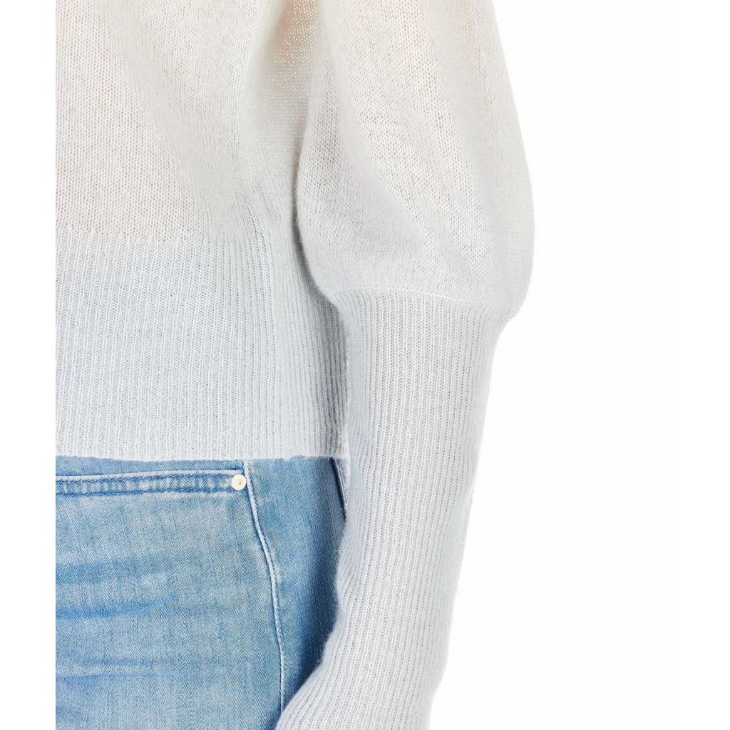Cardigan cachemire con gradiente di colore Rebecca crema