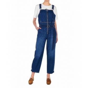 Salopette in Jeans blu