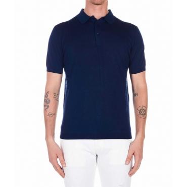Polo in maglia blu