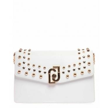 Bauletto con borchie stelle bianco