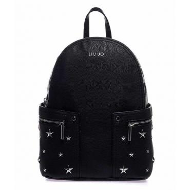 Zaino con borchie stelle nero