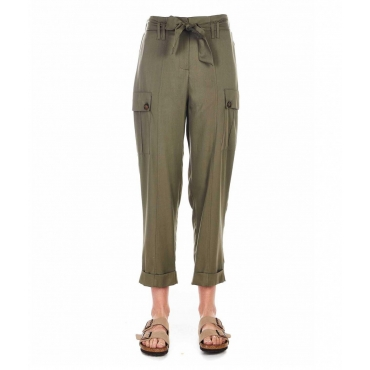 Pantaloni cargo khaki