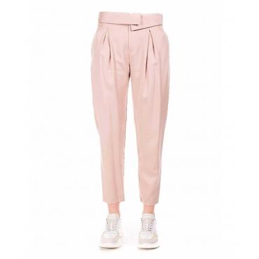 Pantaloni casual rosa antico