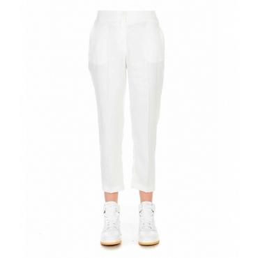 Pantaloni brillanti bianco