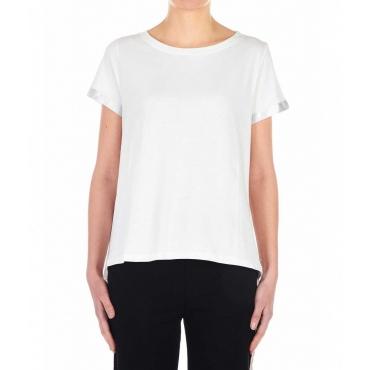 T-Shirt con schiena incrociata crema