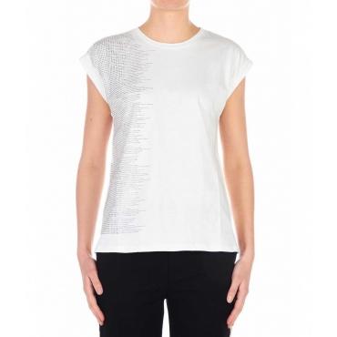 T-Shirt con paillettes bianco