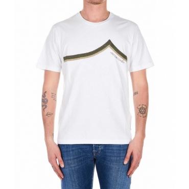 T-Shirt con ricamo logo bianco