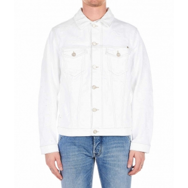 Giacca in jeans destroyed Summer bianco