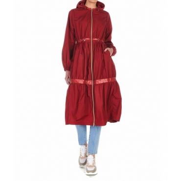 Cappotto impermeabile con balze Angelite bmat rosso
