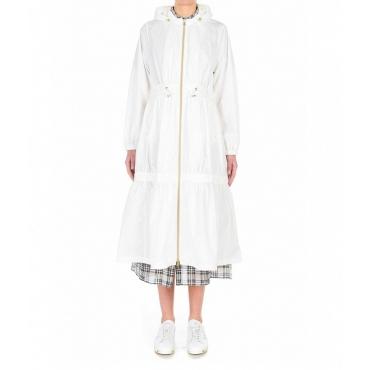Cappotto impermeabile con balze Angelite bmat bianco