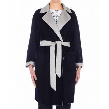 Cappotto in lana Terzo blu scuro