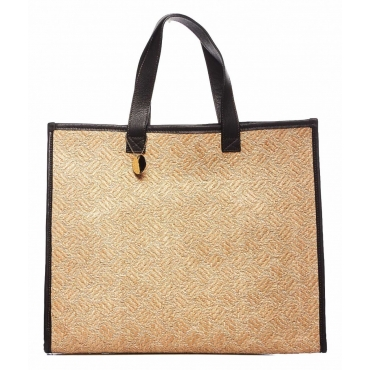 Borsa in rafia Bay beige