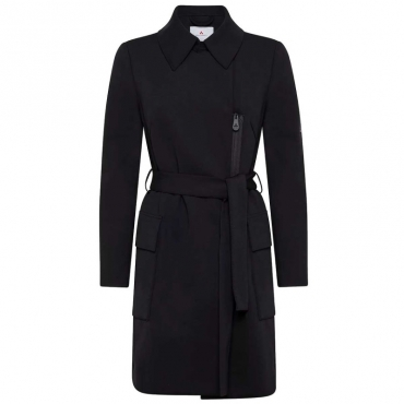 Trench Arsis nero in jersey stretch tecnico