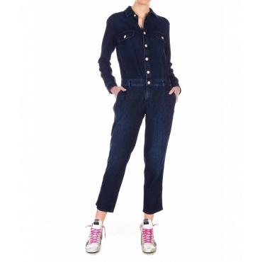 Tuta in jeans Wilma blu scuro