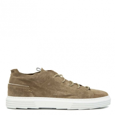 Sneakers in cuoio scamosciato Oliver TAUPE