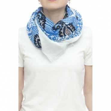 Sciarpa - 1034850   100 x 150   100 cotone 38 - Blu