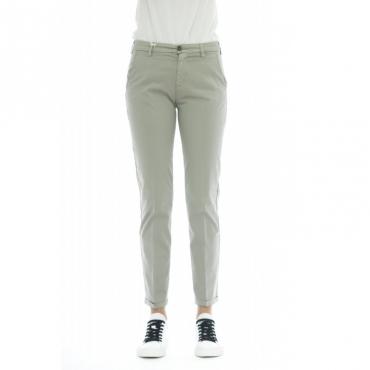 Pantalone donna - Briana 5443 tinta unita W075 - Grigio