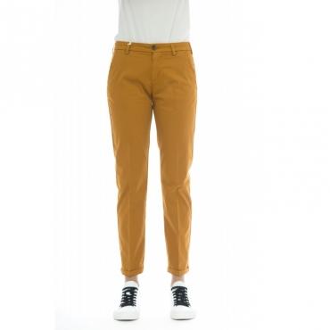 Pantalone donna - Briana 5443 tinta unita W2201 - Coccio