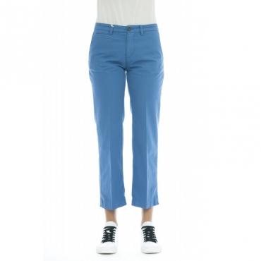 Pantalone donna - Elena 5246 vita alta misto lino W2185