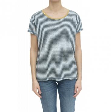 T-shirt - L30206 t-shirt lino 0156 - Bianco Avio