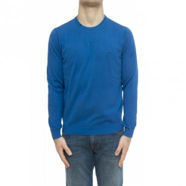 Maglia uomo - K30101 maglia giro bordino 58 - Light blue