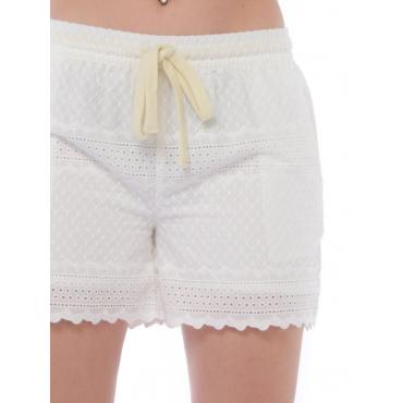 Sun68 Short Mini Donna Bianco