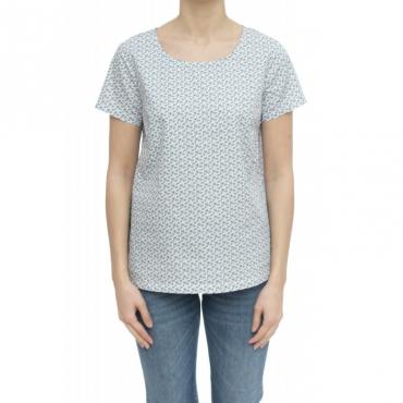 T-shirt - S30205 t-shirt microfiore 56 - Avio
