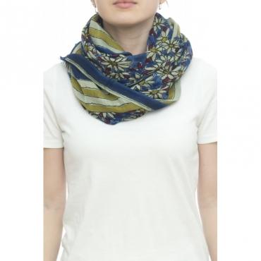 Sciarpa - Margherita 4801   100x 200  90 modal 10 seta 01 - Blue jeans