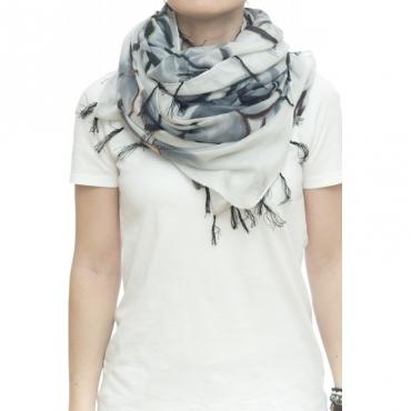 Sciarpa - Ortensia 4906   100 x 200  50 seta 50 cotone 01 - Bianco
