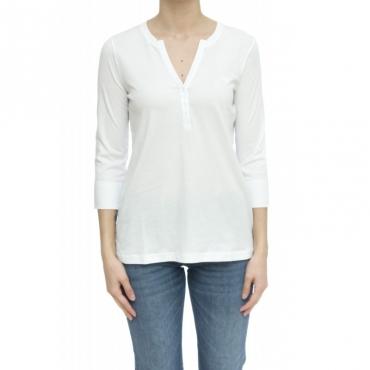 T-shirt - T30211 t-shirt serafino 01 - Bianco