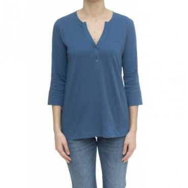 T-shirt - T30211 t-shirt serafino 56 - Avio