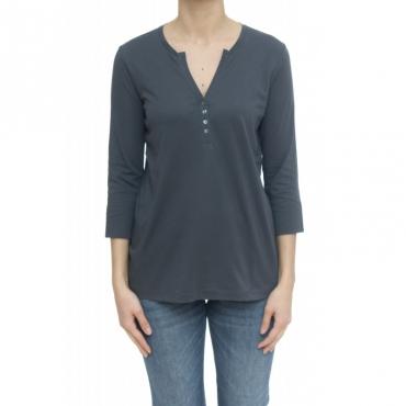 T-shirt - T30211 t-shirt serafino 99 - Piombo