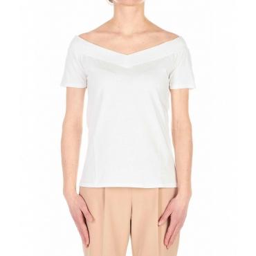 T-shirt off-shoulder bianco