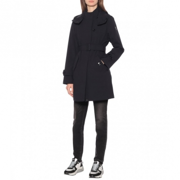 Ws belted fayette coat NERO