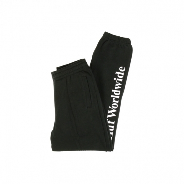 PANTALONE TUTA FELPATO ESSENTIALS FLEECE PANT BLACK