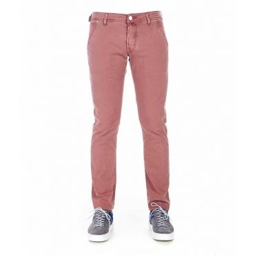 Pantaloni con struttura rosa antico