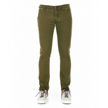 Pantaloni con struttura oliva