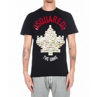 T-shirt con stampa nero