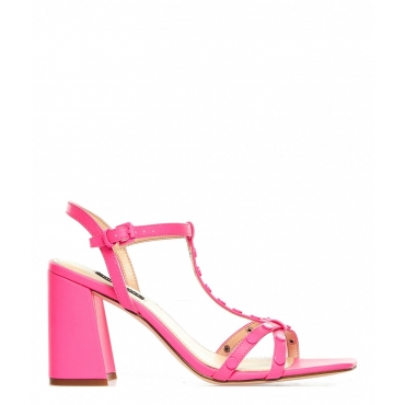 Neon Sandaletten Glimmer Pink