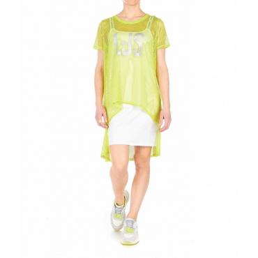Vestito a rete verde chiaro