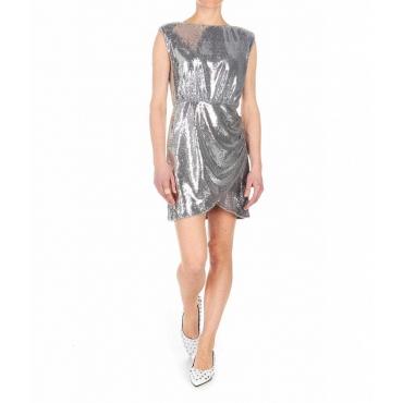 Vestito a lustrini argento