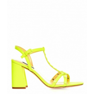 Sandali con tacco al neon Glimmer giallo fluorescente