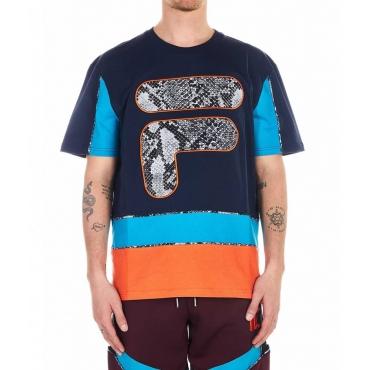 T-shirt con stampa multicolore
