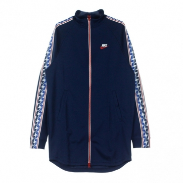 TRACK JACKET TAPED TRACK JKT POLY OBSIDIAN/GYM RED/SAIL