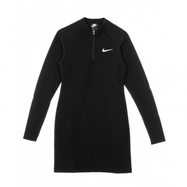 VESTITO DRESS LONG-SLEEVE BLACK/WHITE